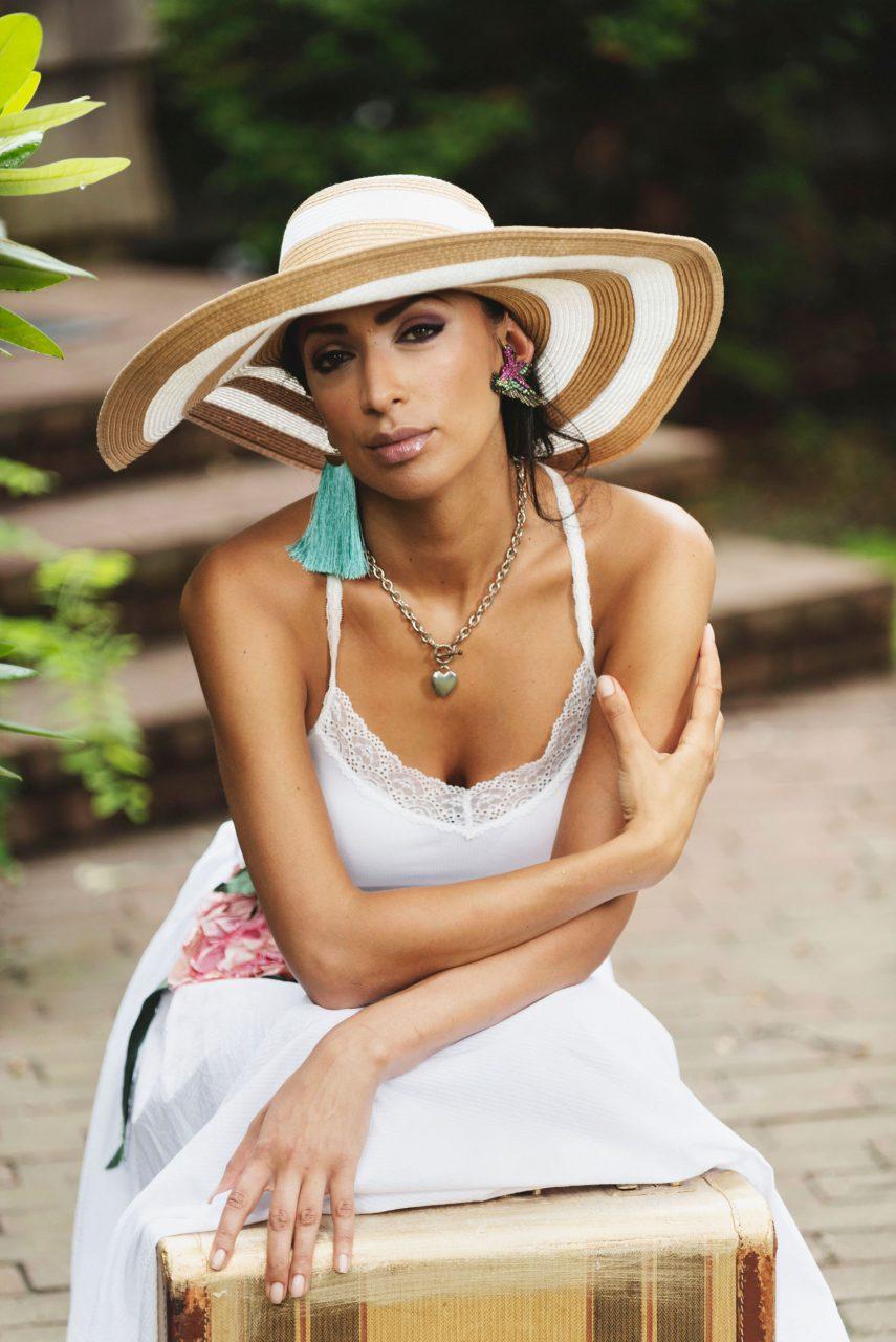 Maja wears Sofistafunk on Long Island.
